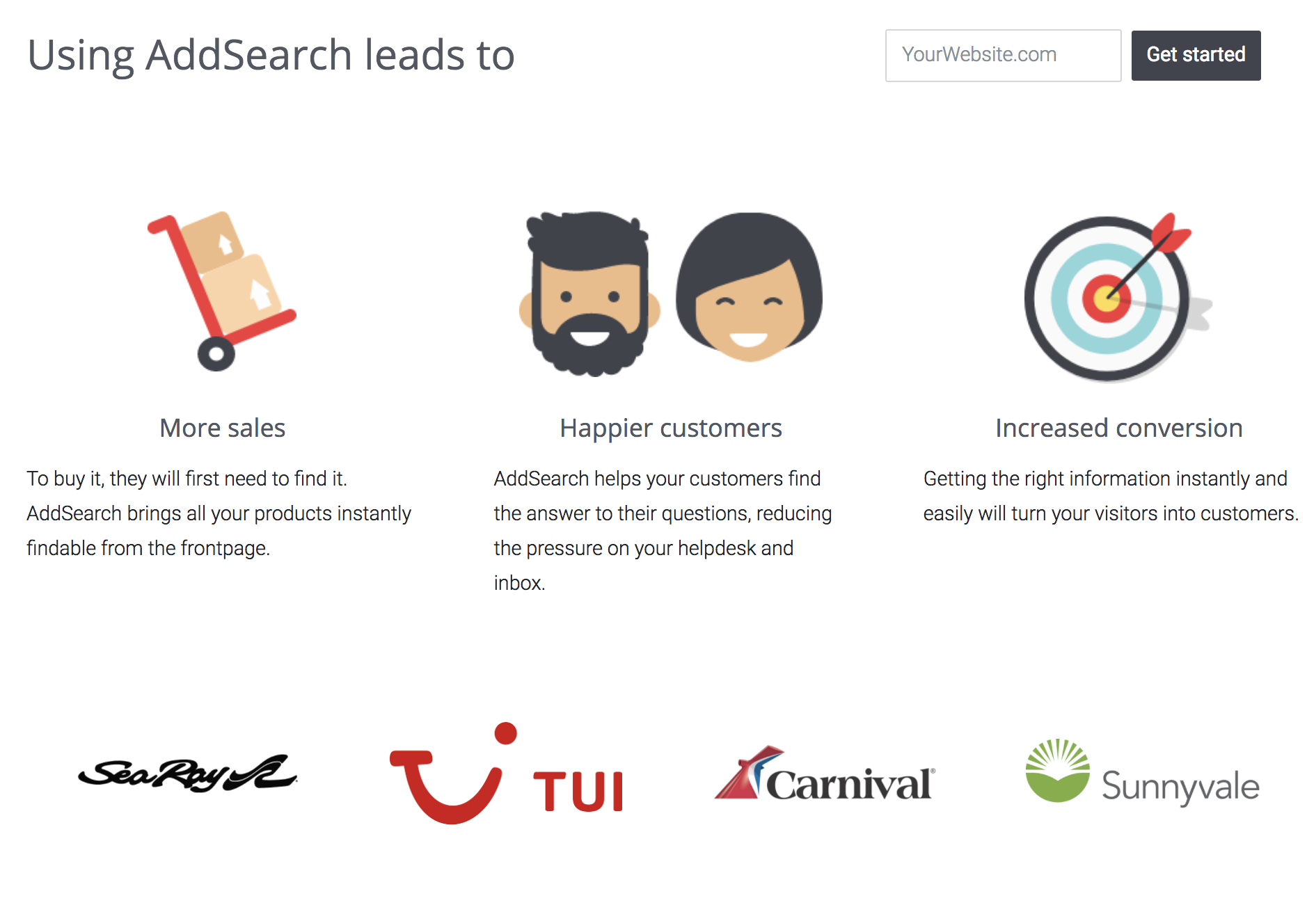 AddSearch Demo - AddSearch customers