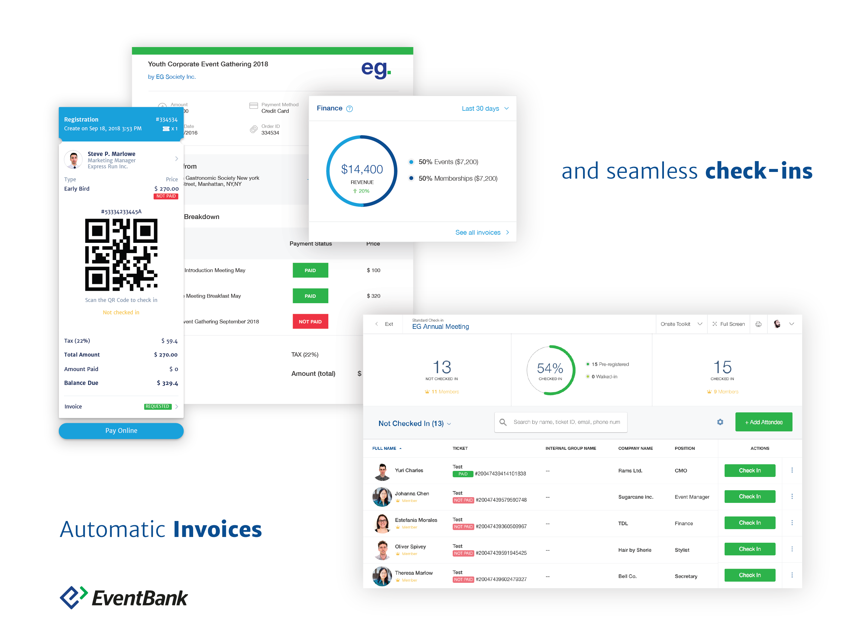 Event Management Cloud from EventBank Demo - Complete Event Management from Initial Planning to Automatic Invoicing and Seamless check-ins