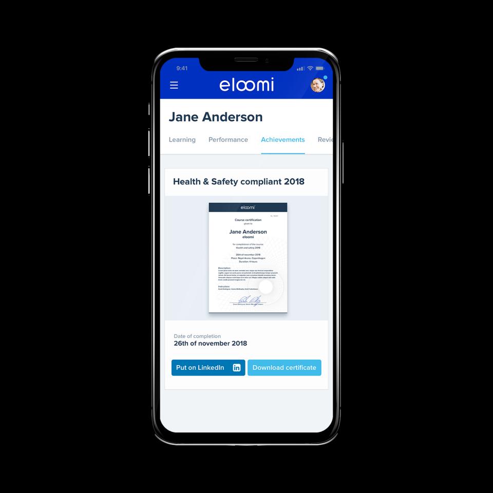 eloomi Demo - Certificates