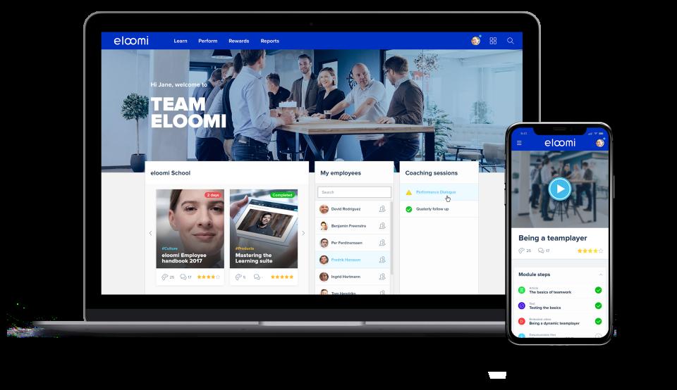 eloomi Demo - Customizable dashboard