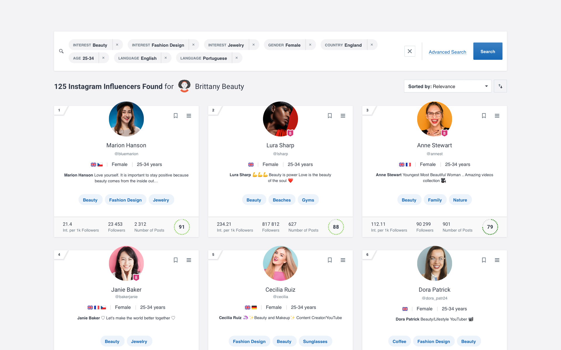 Socialbakers Demo - Discover the Best Influencers for you.