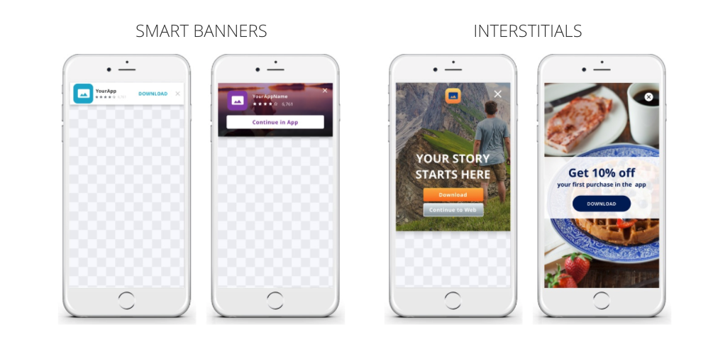 Branch Demo - Journeys customizable web to app banners