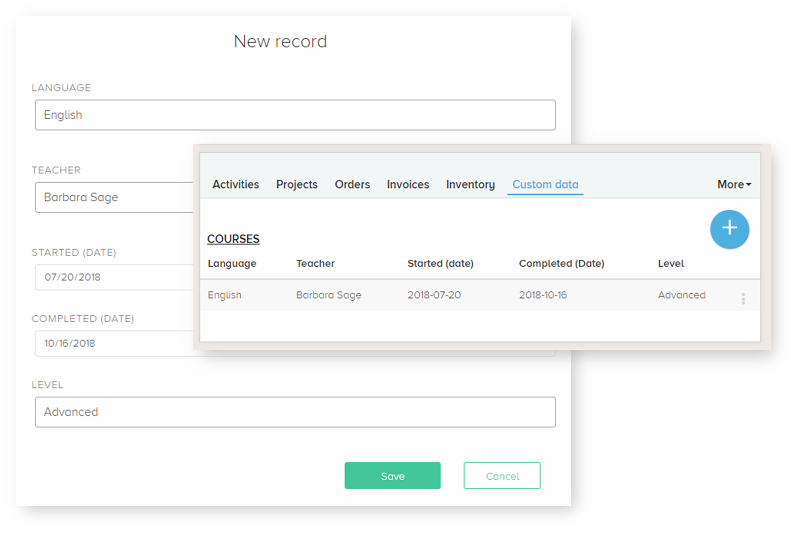 Composity CRM Demo - CRM feature