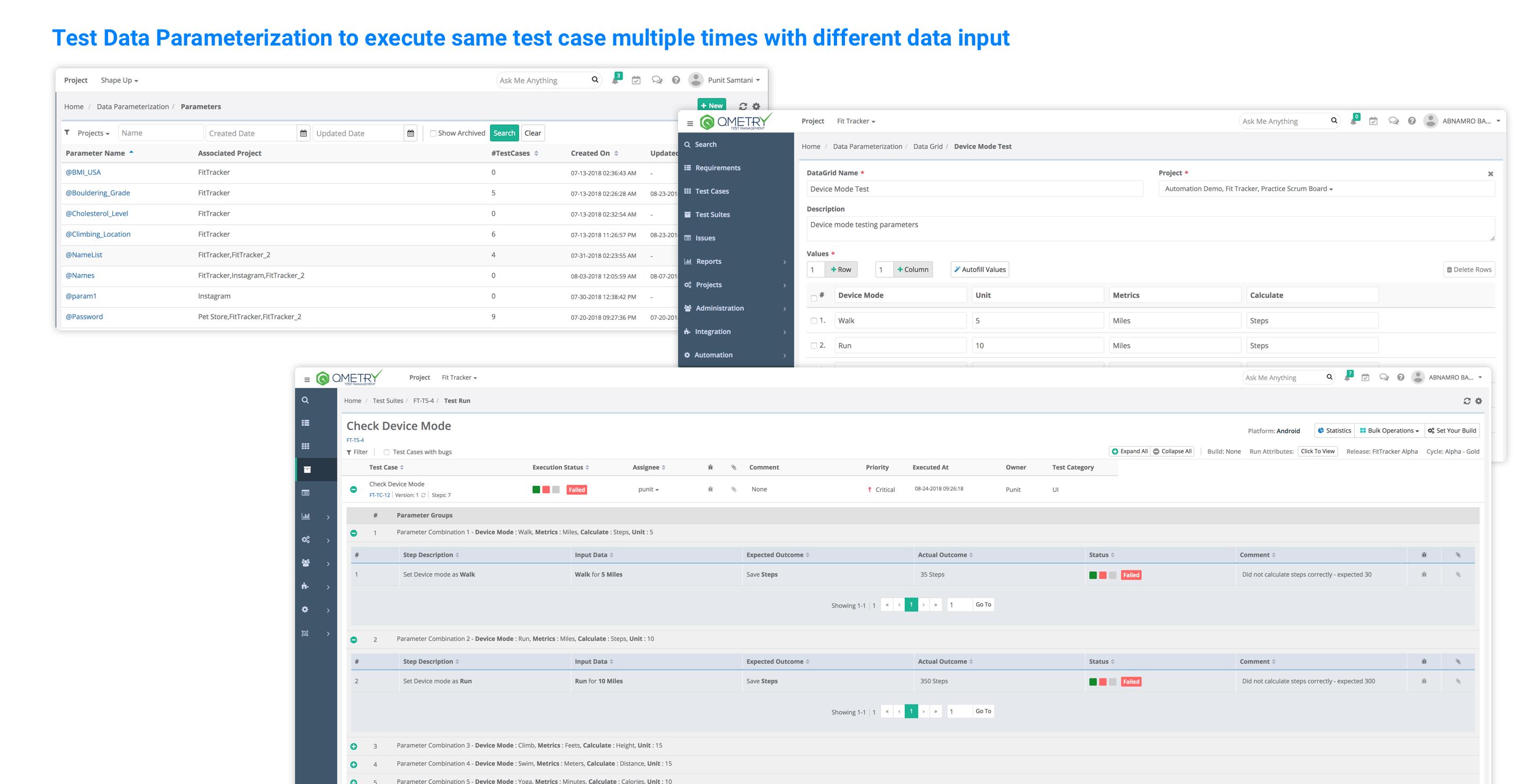 QMetry Test Management Demo - Test Data Parameterization