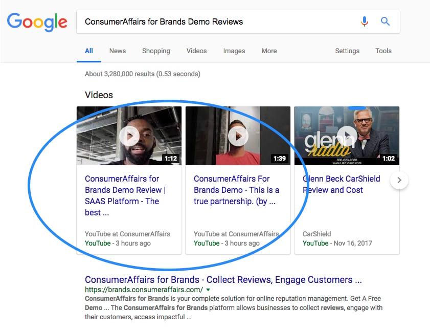 ConsumerAffairs.com Demo - Collect Video Reviews