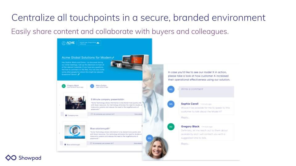 Showpad Content Demo - Centralize all touchpoints in a secure, branded environment