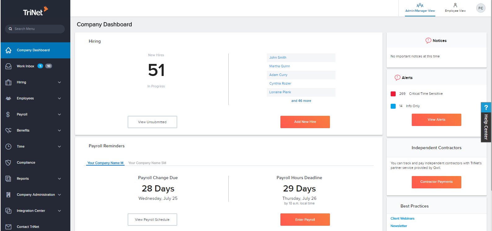 TriNet Demo - TriNet Platform