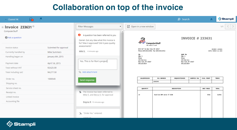 Stampli Demo - Stampli's Interactive Invoice Management