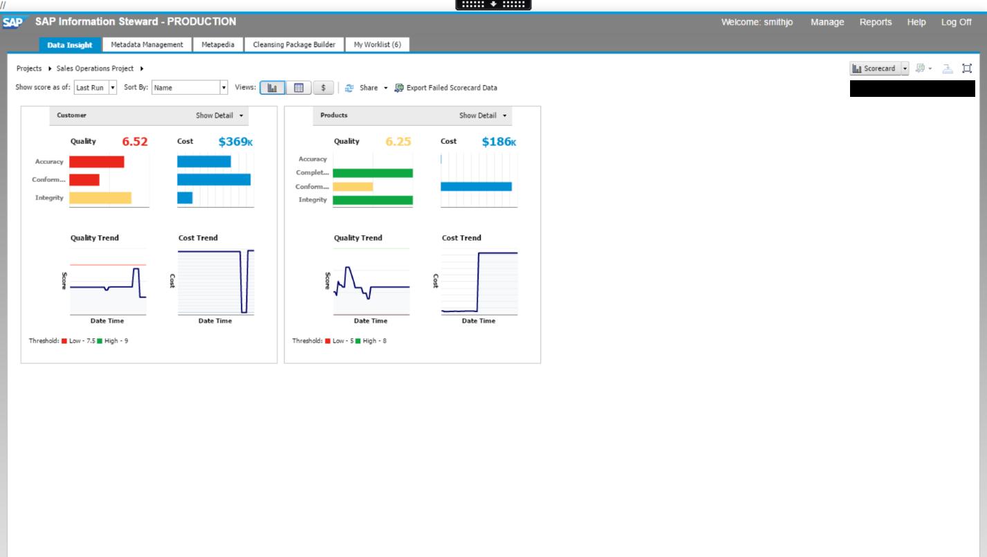SAP Information Steward Demo - SAP Information Steward