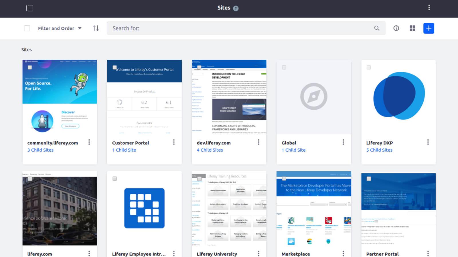 Liferay Digital Experience Platform Demo - Liferay DXP Site Administration