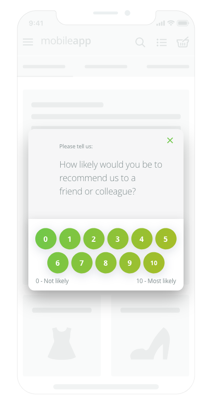 Survicate Demo - mobile app survey