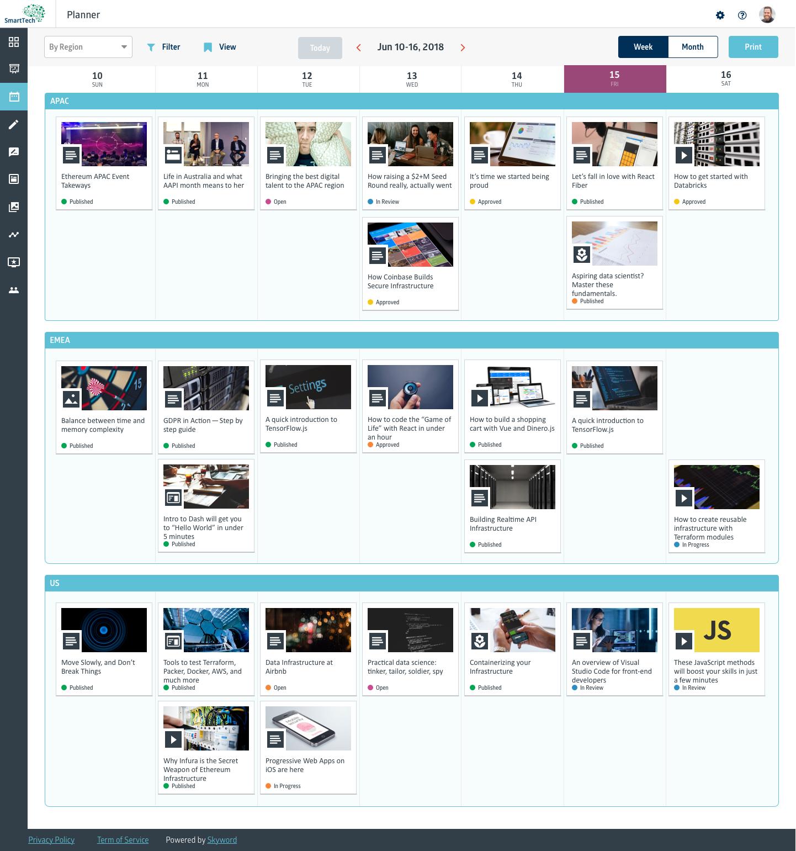Skyword Demo - Skyword Enterprise Planner