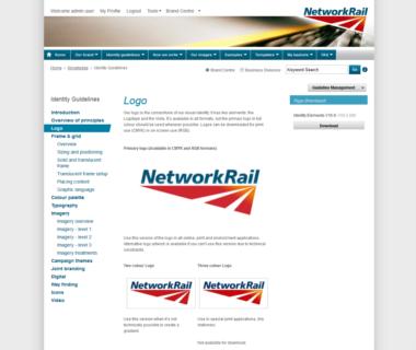 Adgistics Demo - Network Rail Brand Centre solution