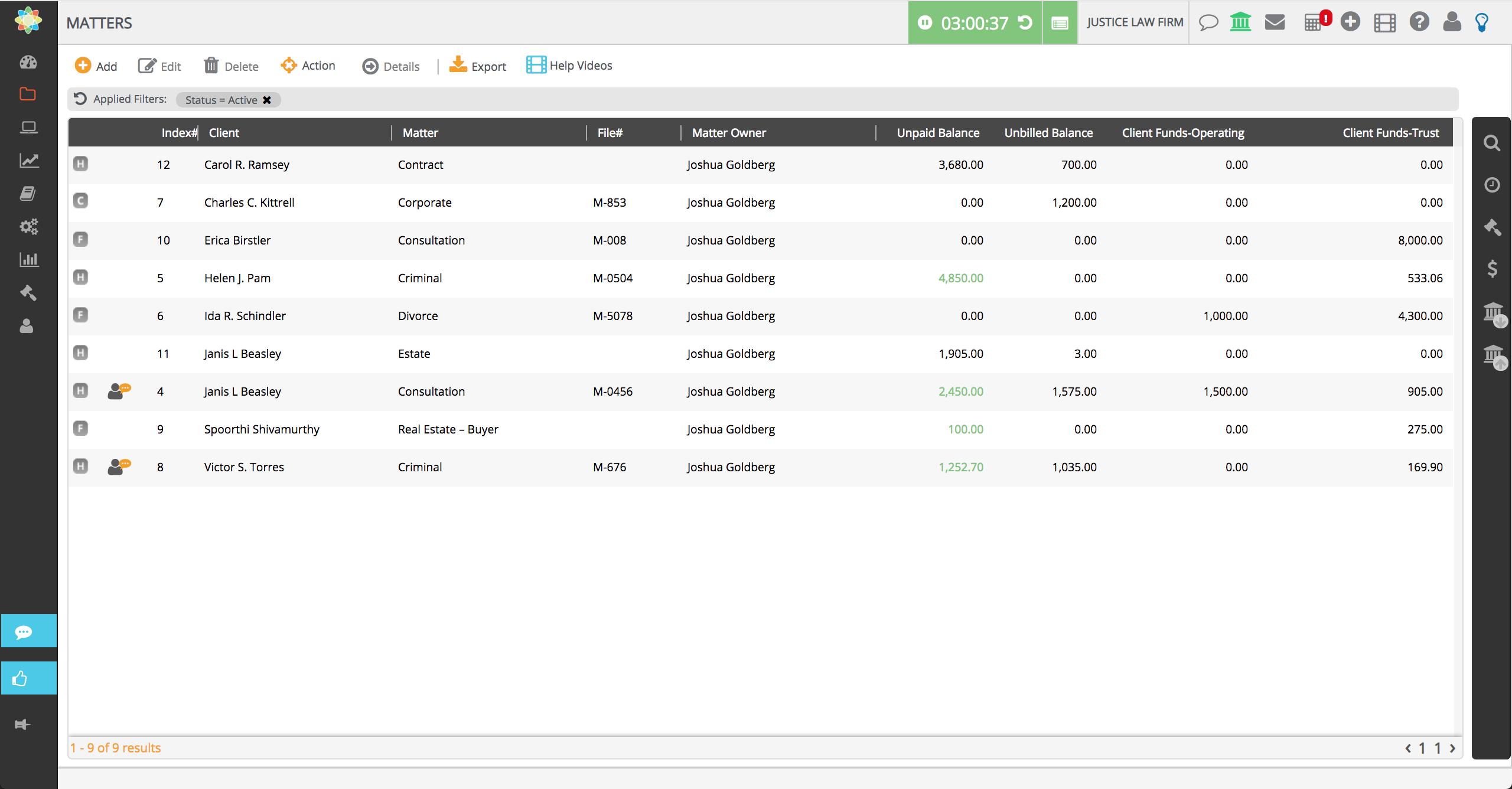 CosmoLex Demo - CosmoLex Matter Landing Page