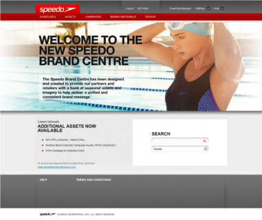 Adgistics Demo - Speedo Brand Centre solution