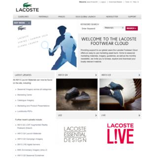 Adgistics Demo - Lacoste Brand Centre solution