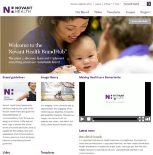 Adgistics Demo - Novant Health Brand Centre solution