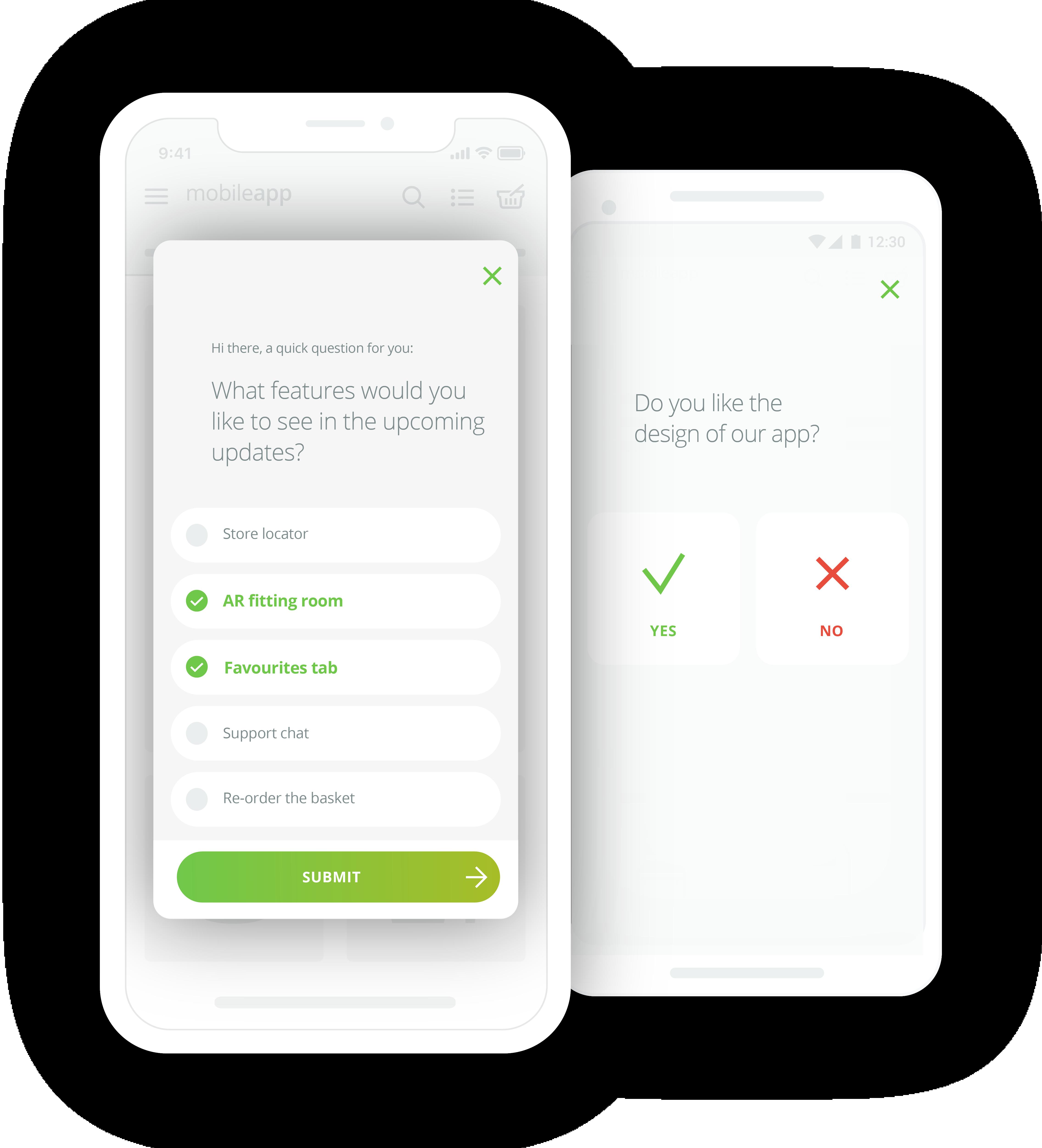 Survicate Demo - Survicate mobile app surveys