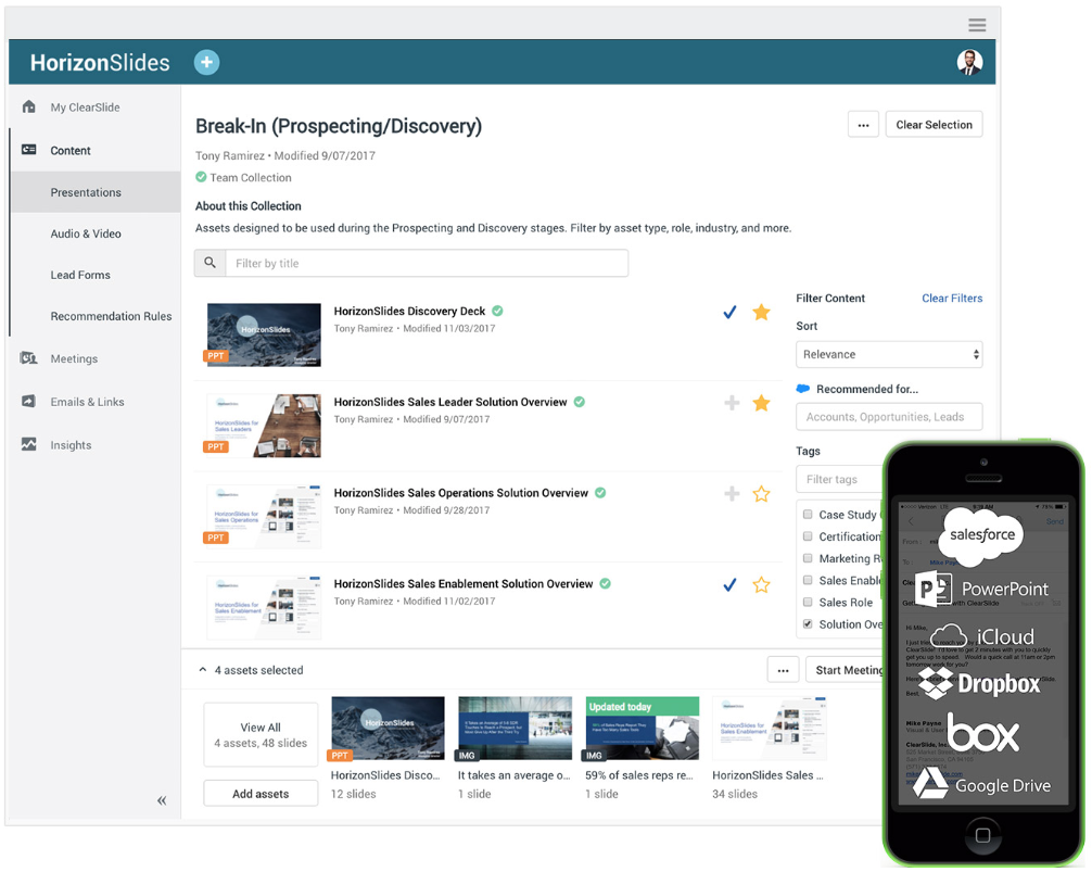 ClearSlide Demo - SALES & MARKETING CONTENT HUB