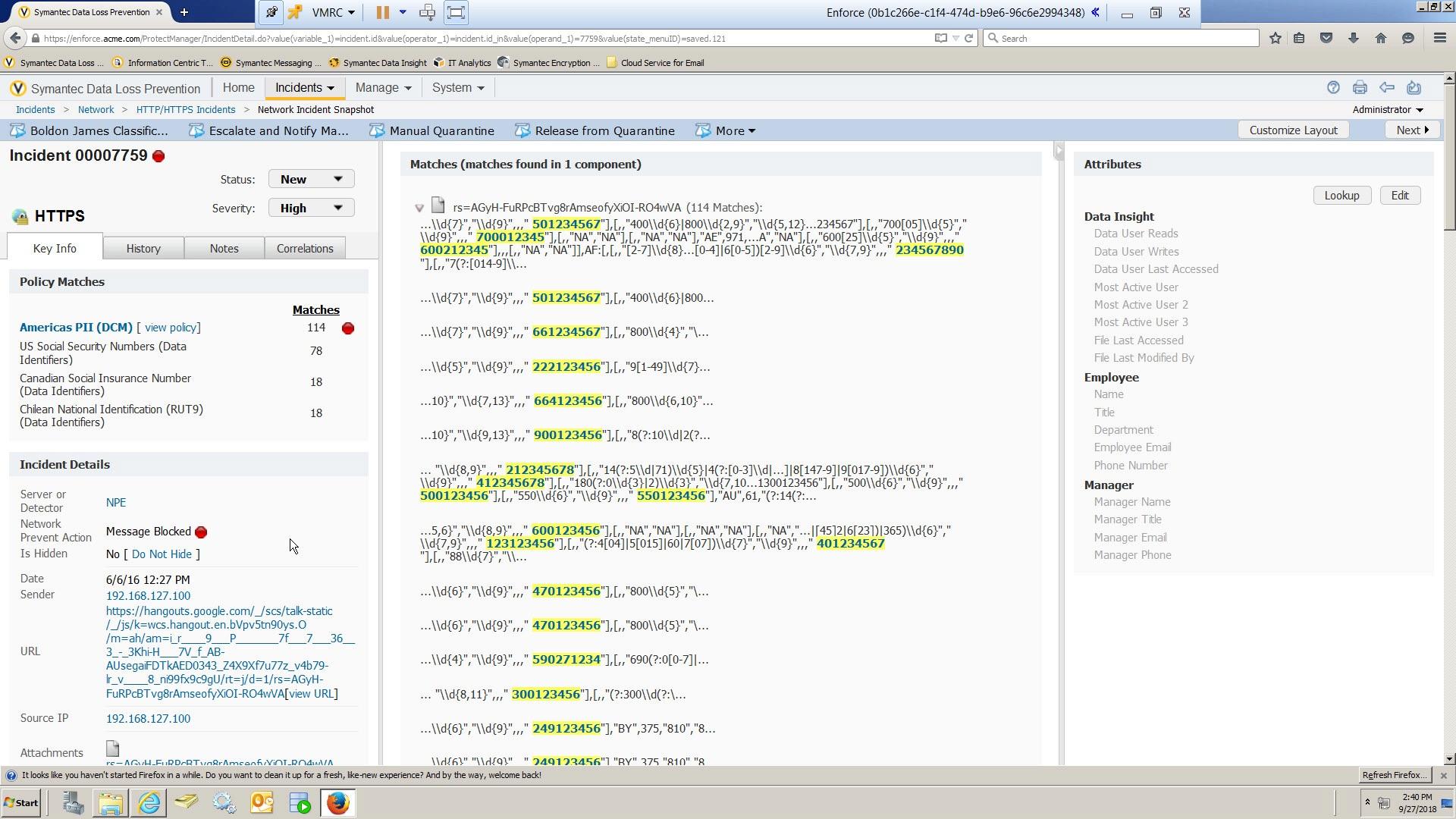 Symantec Data Loss Prevention Demo - DLP Console