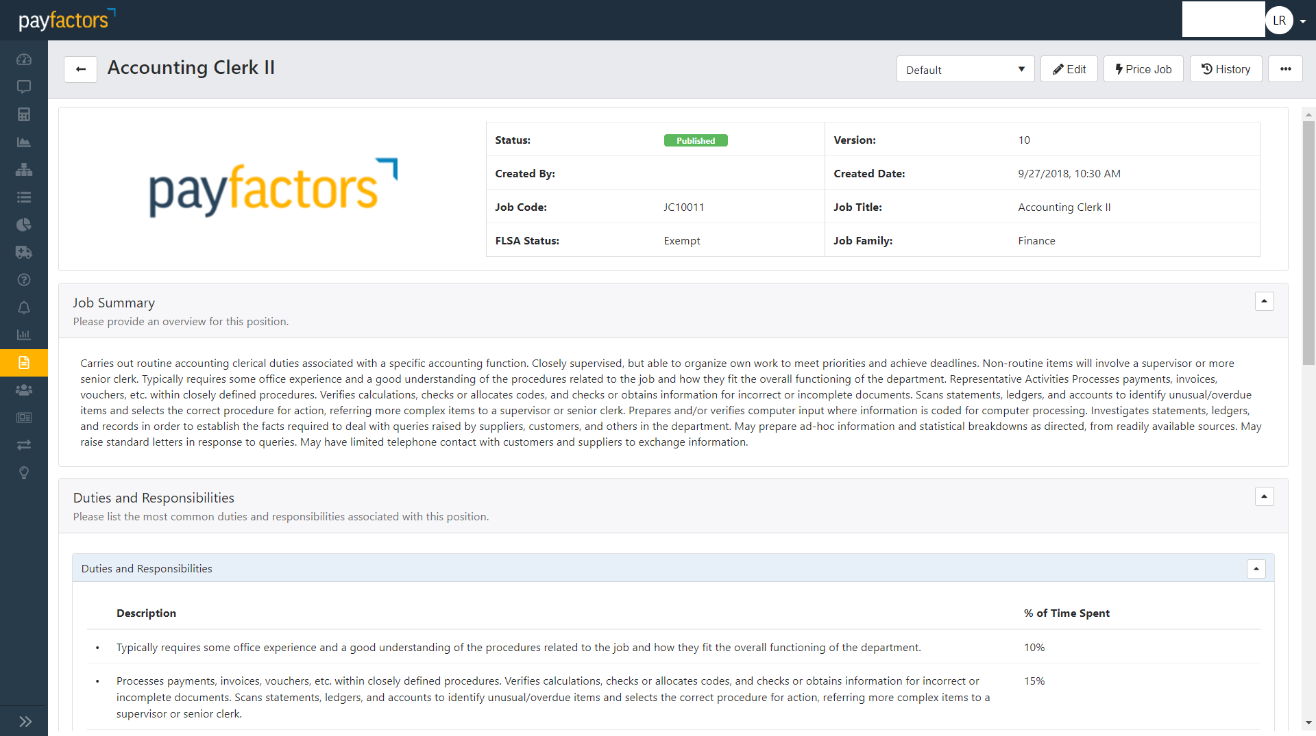 Payfactors Demo - Job Description Manager