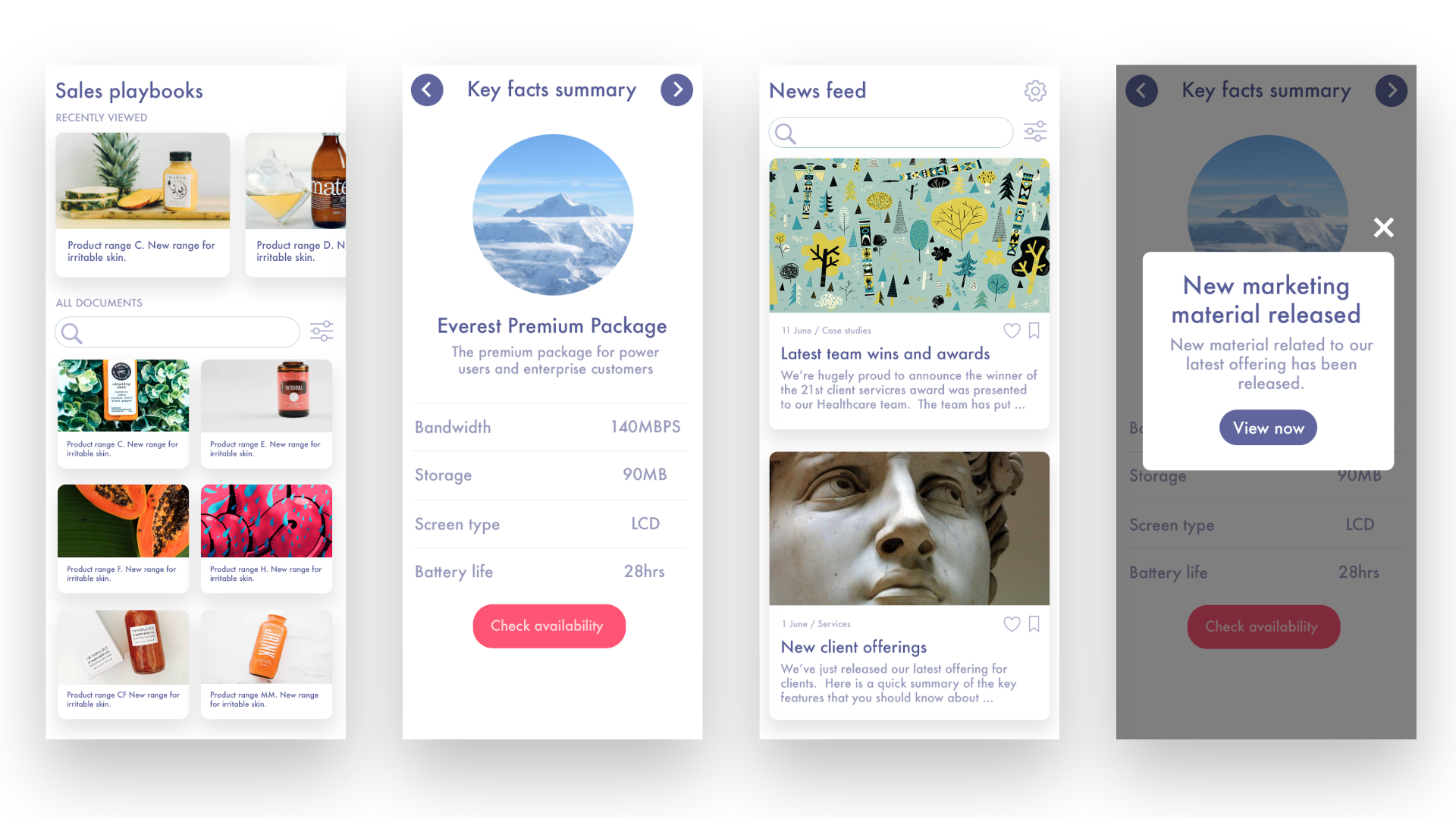 Fliplet Demo - Sales enablement, notifications, newsfeeds and more
