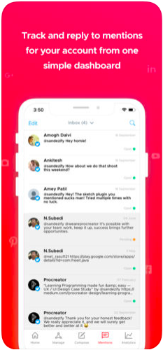 Crowdfire Demo - Never miss a mention
