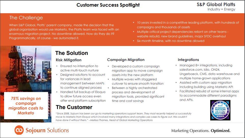 Sojourn Solutions Demo - Customer Success Spotlight - S&P Global Platts