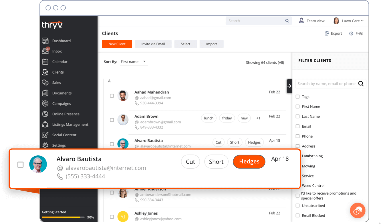 Thryv Demo - Customers and Contacts