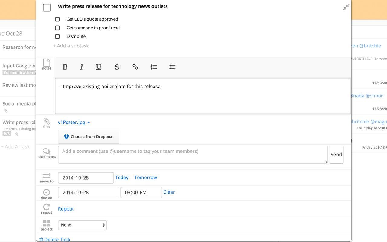 Webstore   task details