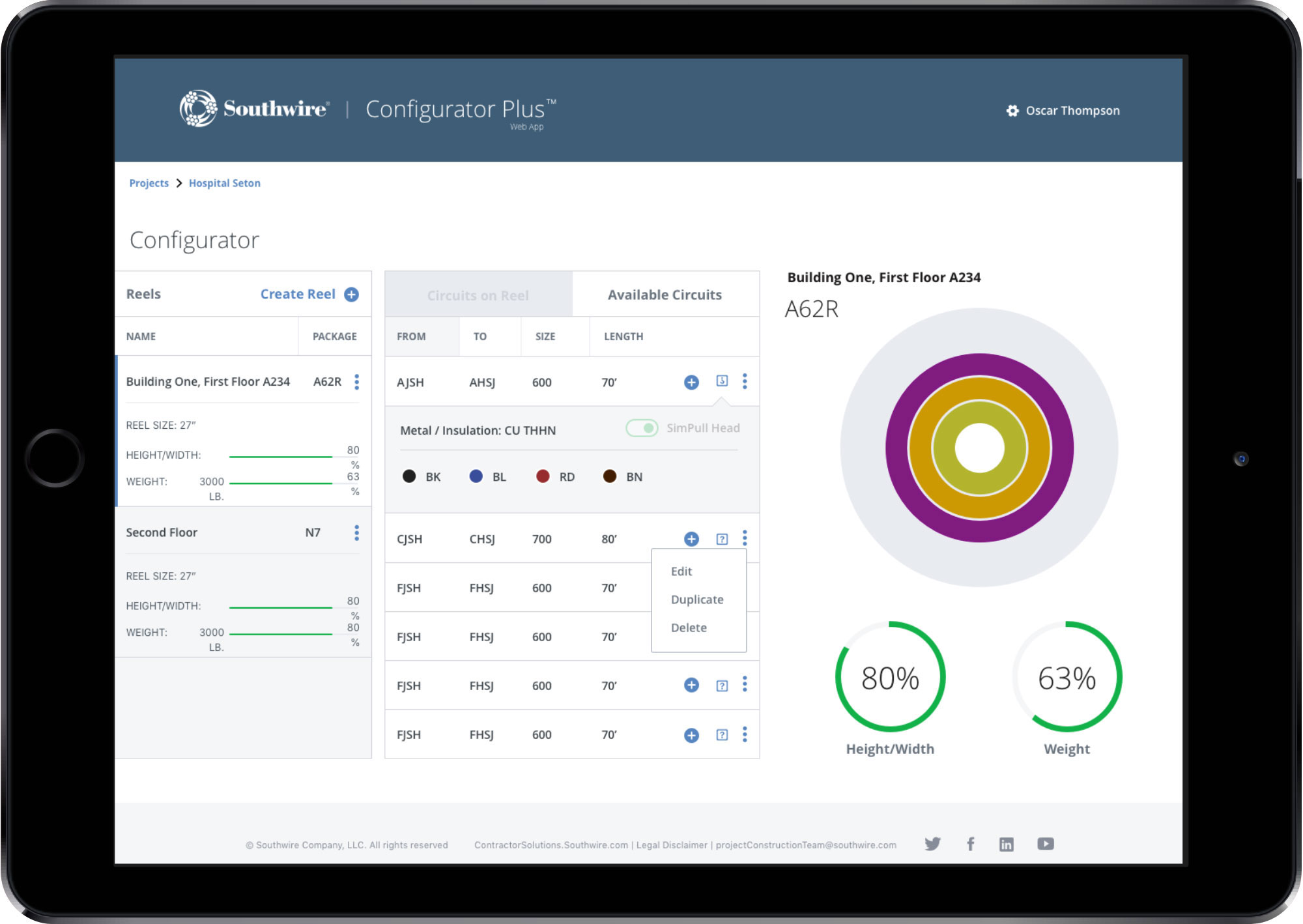 Mutual Mobile Demo - Southwire Configurator Plus | iOS & Android App