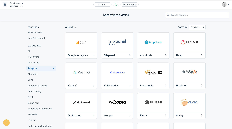 Segment Demo - Integration Catalog