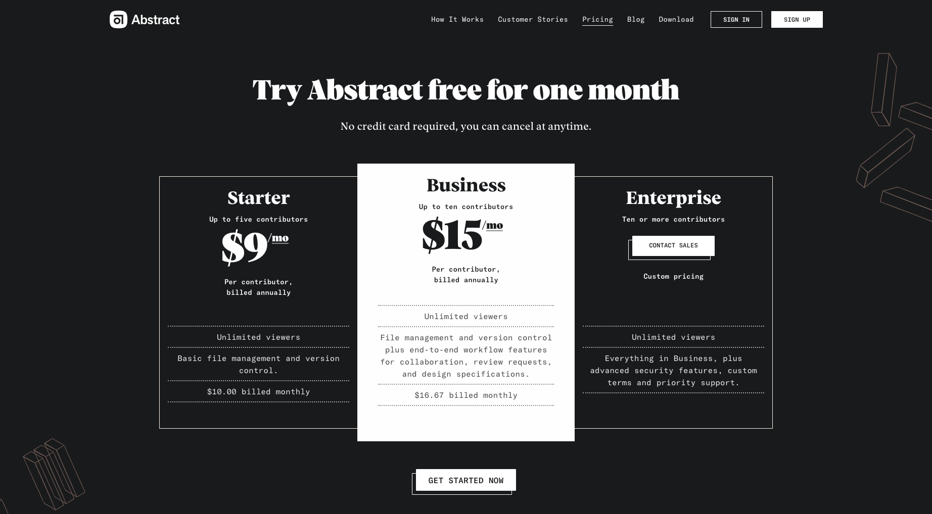 Abstract Demo - Abstract-Pricing.png