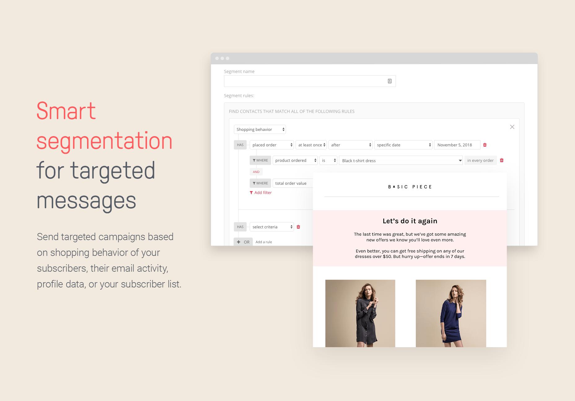 Omnisend Demo - Smart segmentation for targeted messages