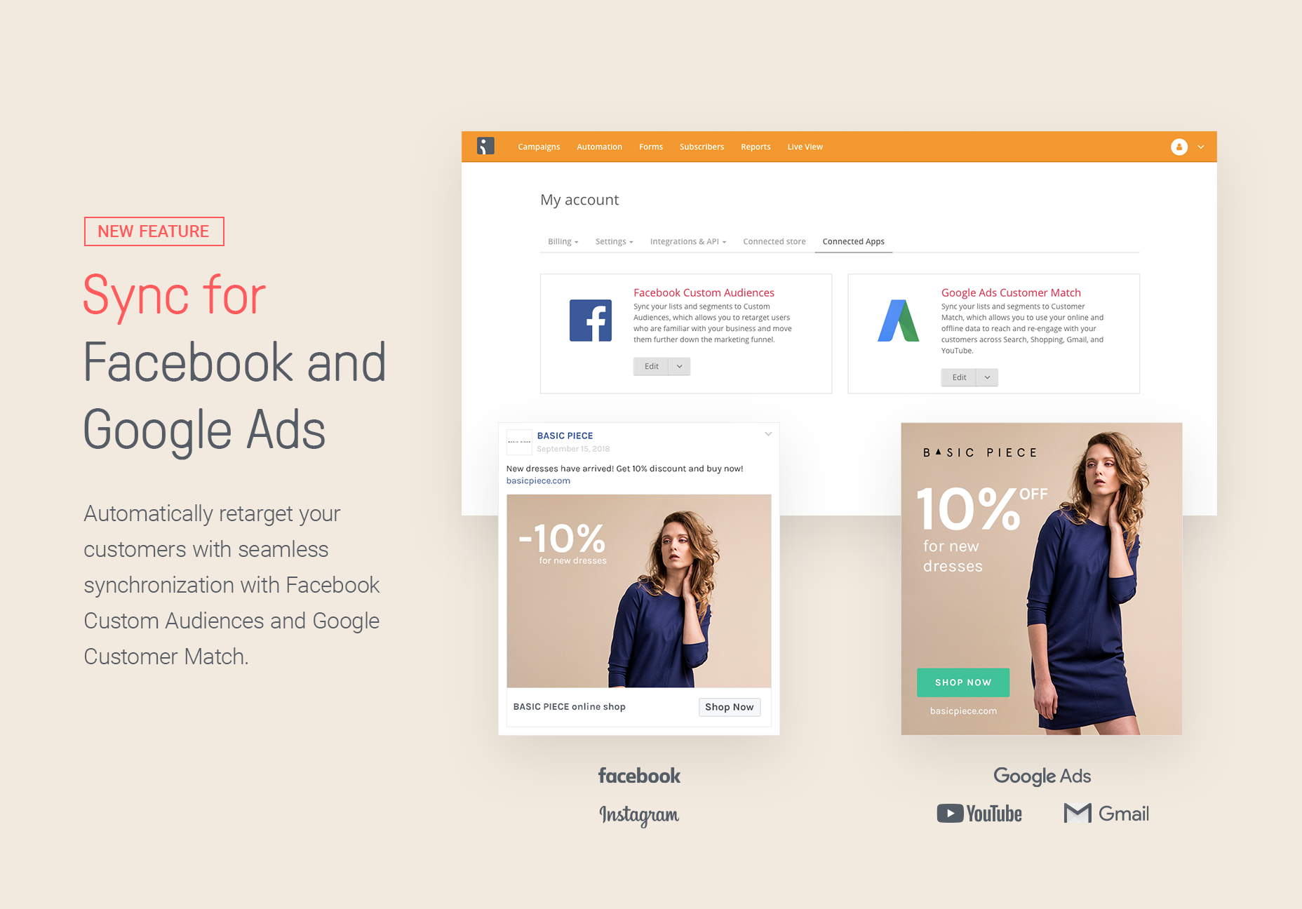 Omnisend Demo - Sync for Facebook and Google Ads