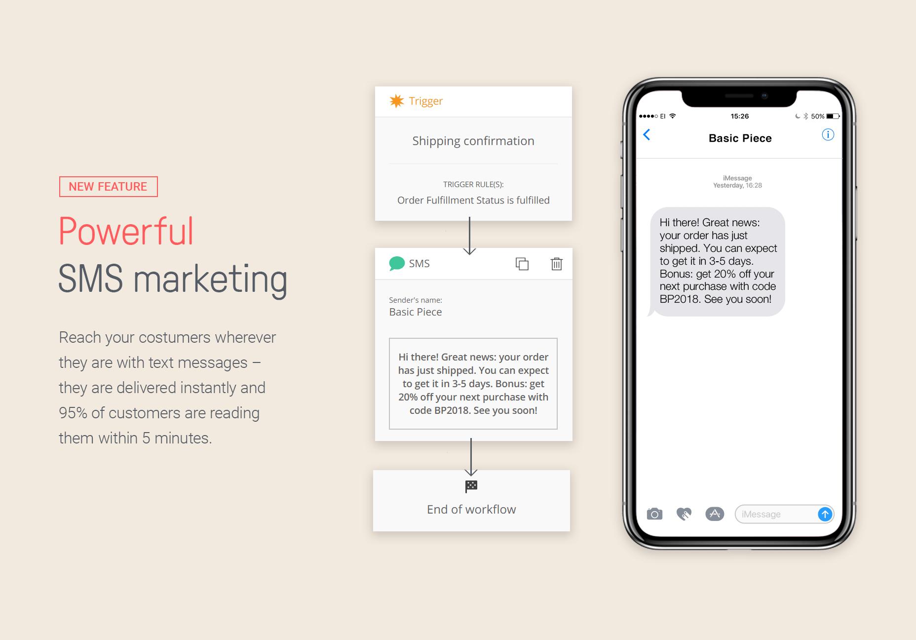 Omnisend Demo - Powerful SMS marketing