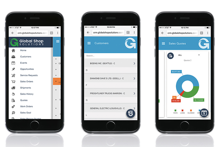 Global Shop Solutions One-System ERP Demo - Global Shop Solutions Mobile CRM