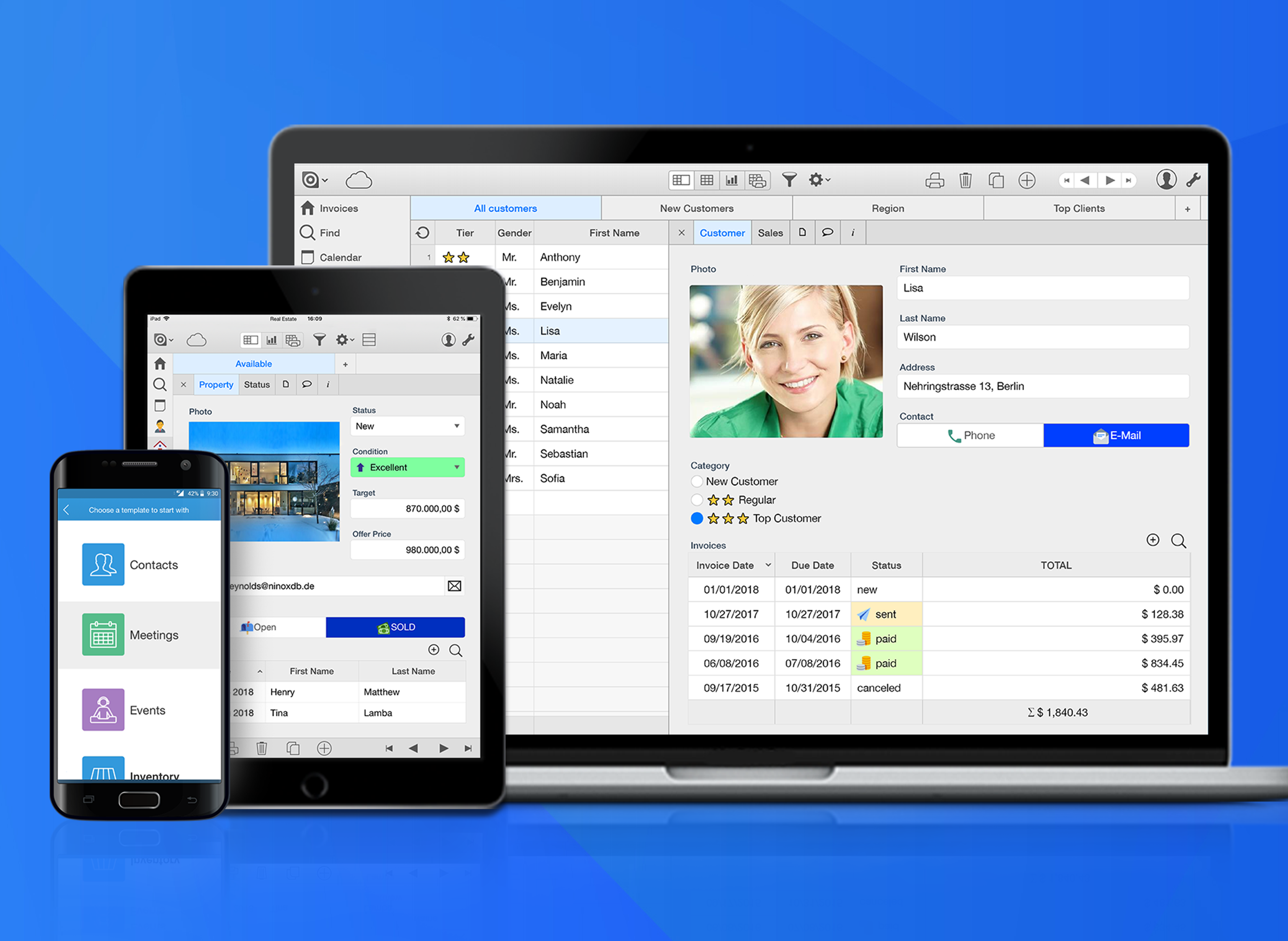 Ninox Database Demo - Create databases on any device, from anywhere
