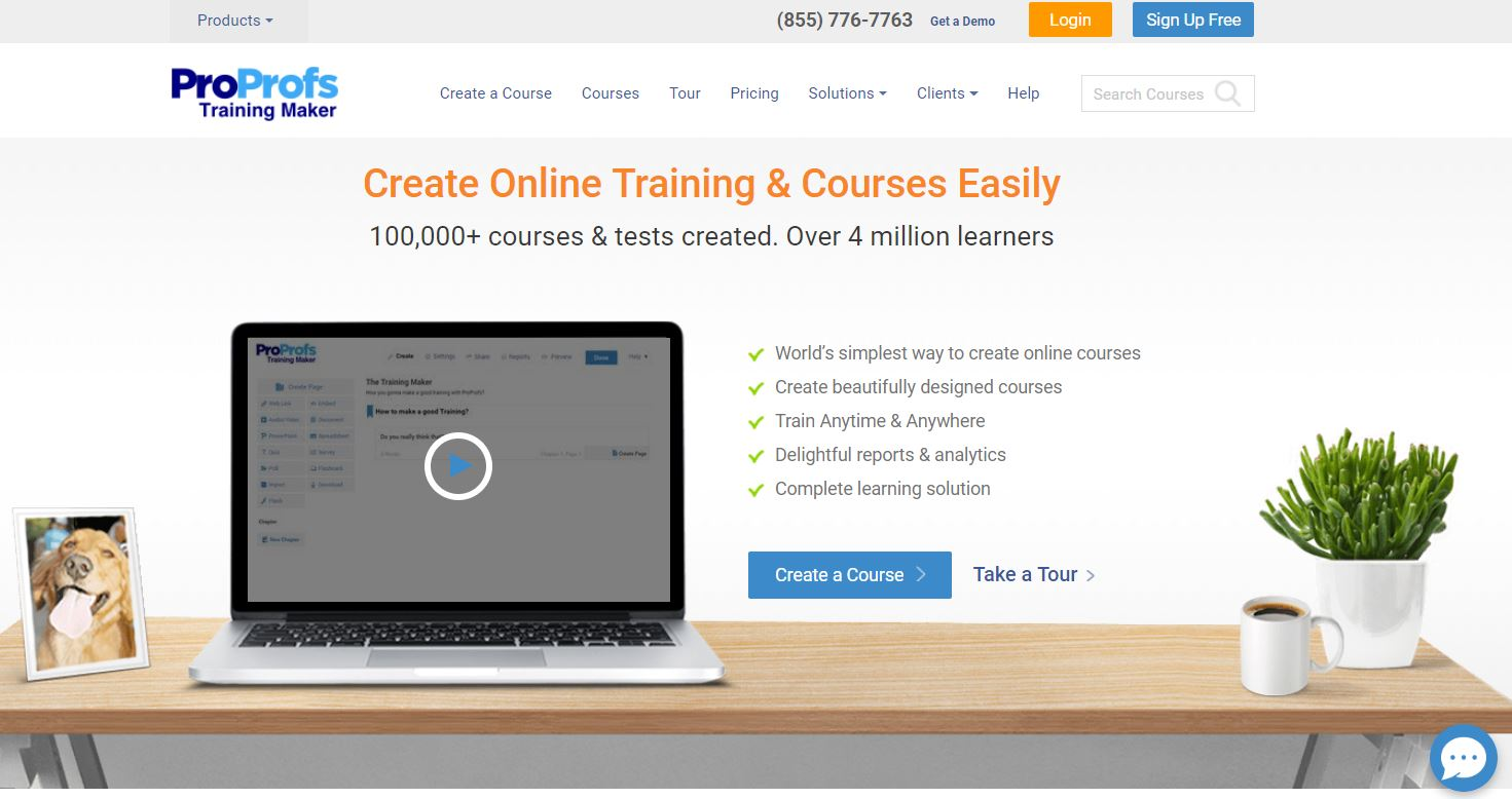 ProProfs Training Maker Demo - Online Training Software: Create Free Training Course In 5 Min - ProProfs