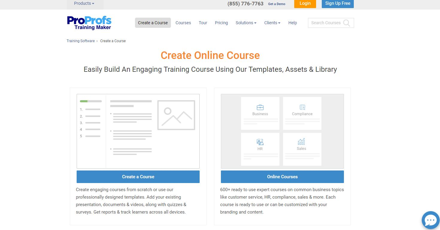 ProProfs Training Maker Demo - Create Online Course: Make Beautiful Courses In Minutes - ProProfs