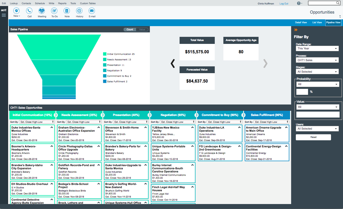 Act! Demo - Dynamic Sales Pipeline Management