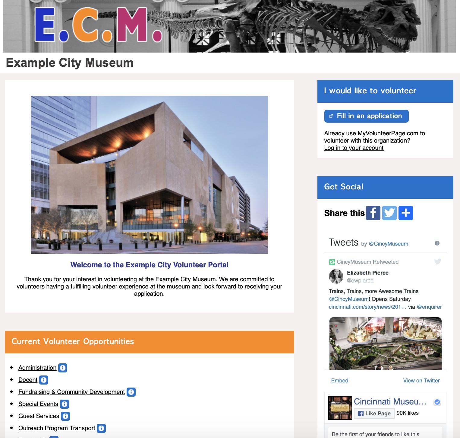 Volunteer Impact Demo - Volunteer's Portal
