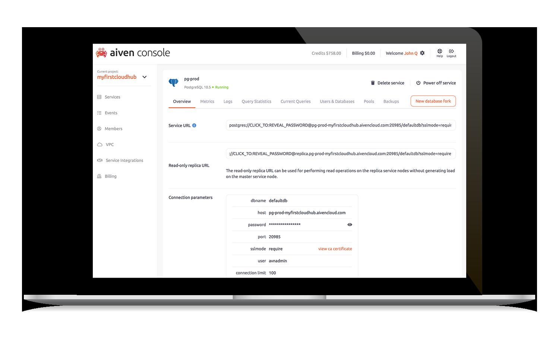 Aiven Demo - Aiven PostgreSQL