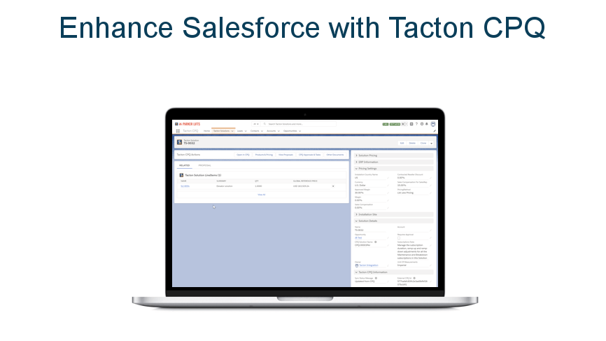 Tacton Demo - Tacton CPQ for Salesforce