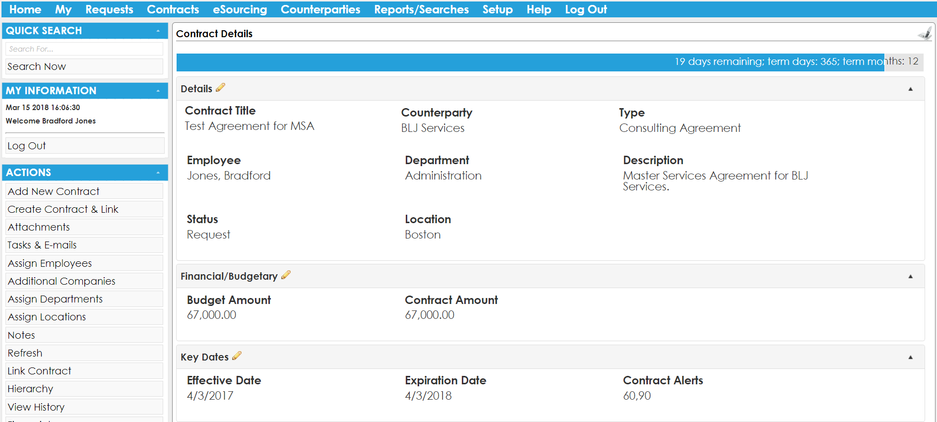 Contract Insight Demo - CobbleStone Contract Management Software Contract Tracking