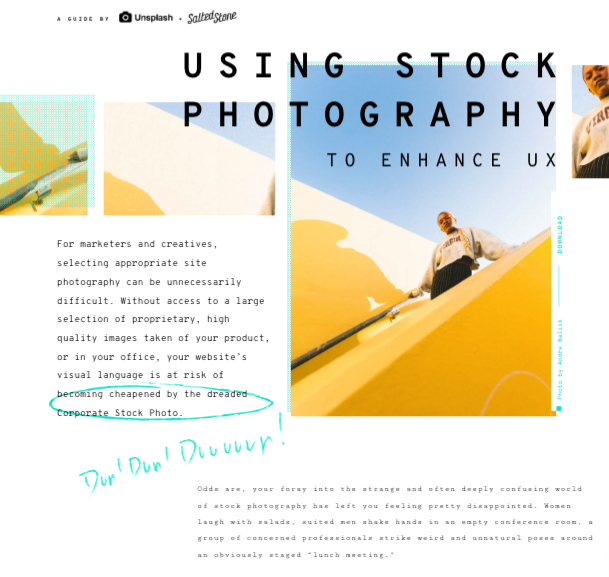 Salted Stone Demo - The Unsplash x Salted Stone Guide to UX-Enhancing Stock Photography