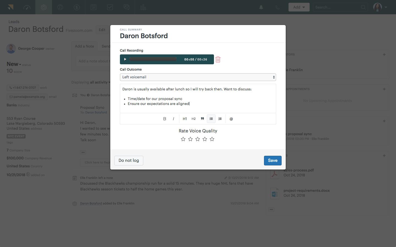 Zendesk Sell Demo - Native Call Dialer