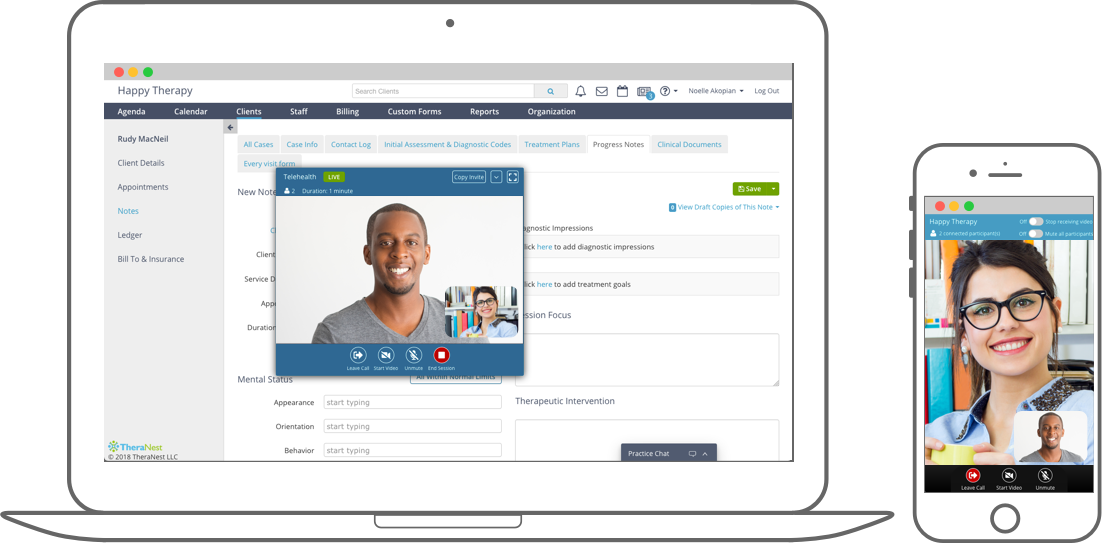 TheraNest Demo - Telehealth for Secure Video Conferencing