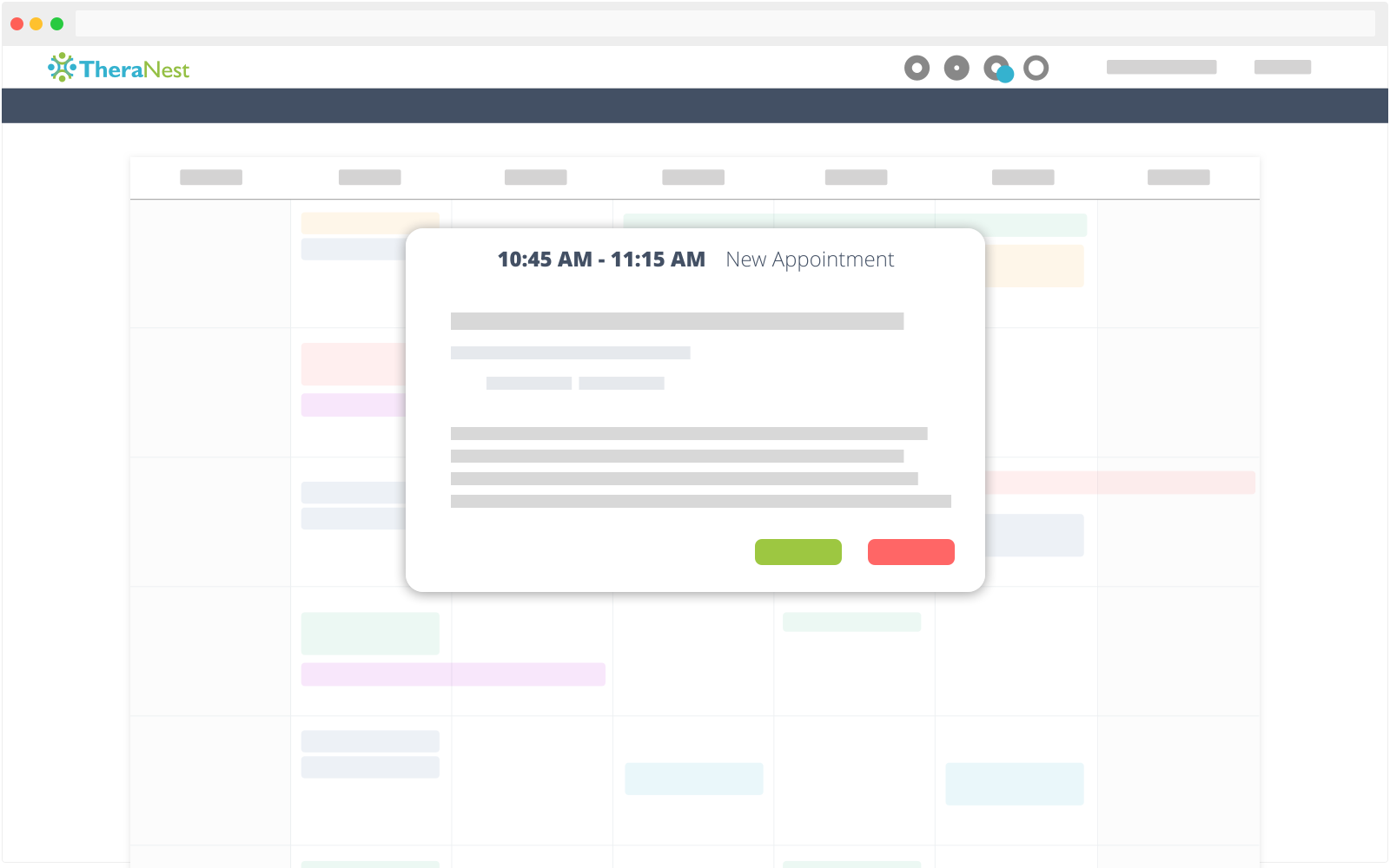 TheraNest Demo - Calendar for Your Scheduling Needs
