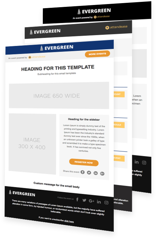 Attendease Demo - Email Marketing Templates